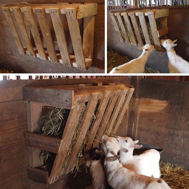 Кормушка для козы своими руками