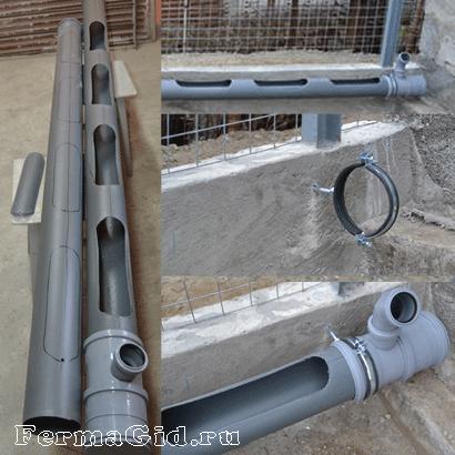 Кормушки из канализационных труб своими руками